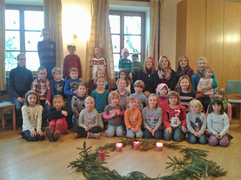 Gruppenbild im Advent 2014
